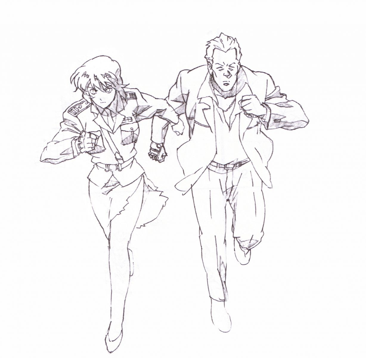 It Is A Drawing From Ghost In The Shell Artbook Color And Then Send To